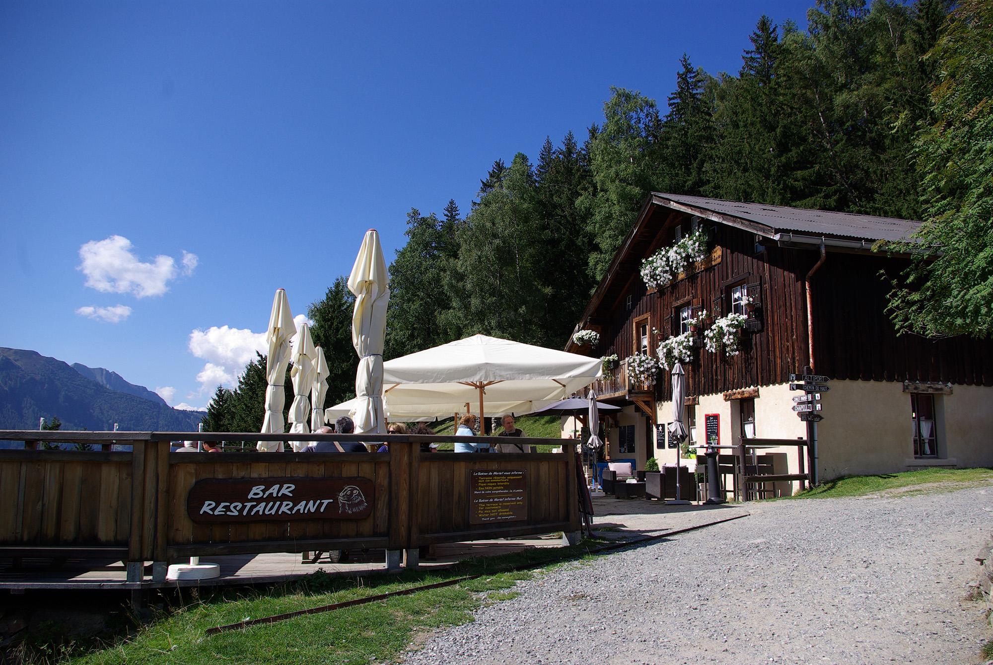 terrasse - Restaurant le Balcon de Merlet
