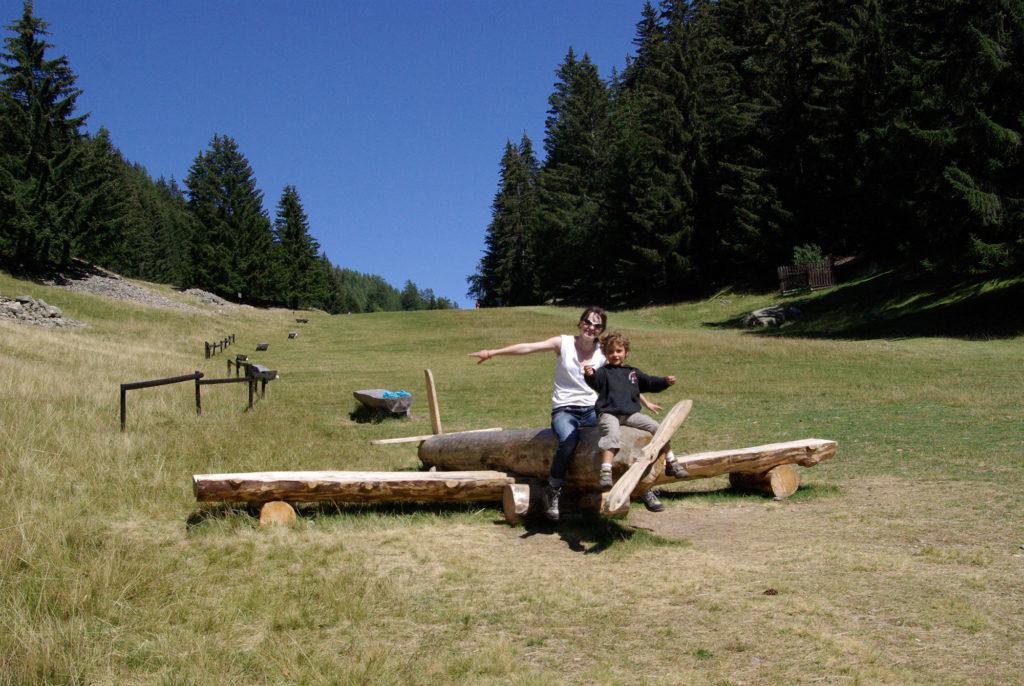 Wooden plane at Merlet park for children