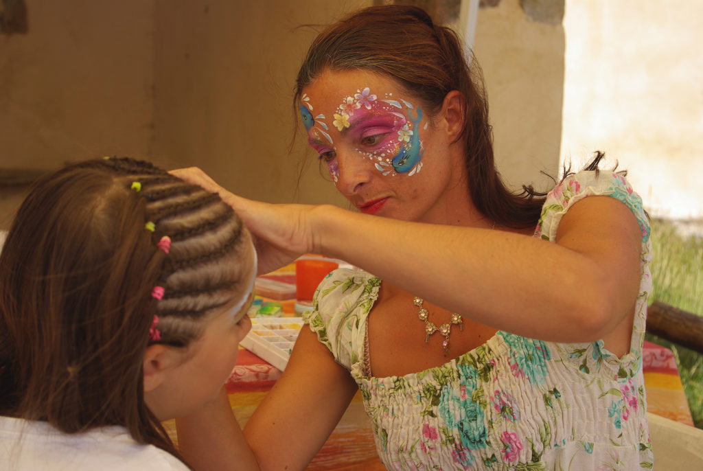 Kids make-up day at Merlet Park