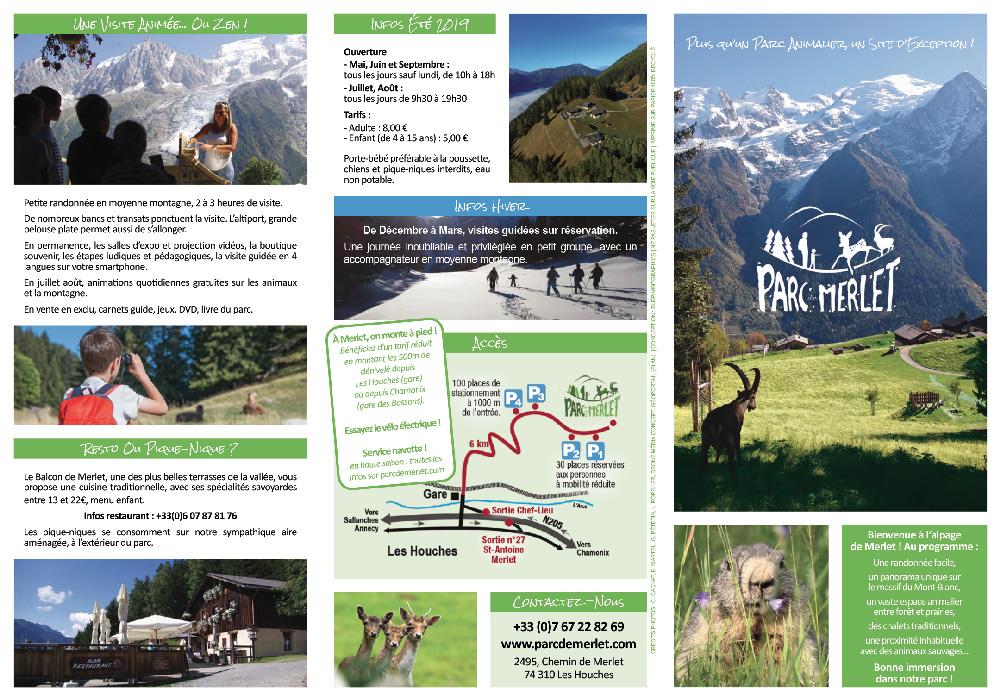 Dépliant 2019 du Parc Animalier de Merlet