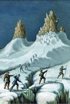 engraving glaciers mont blanc