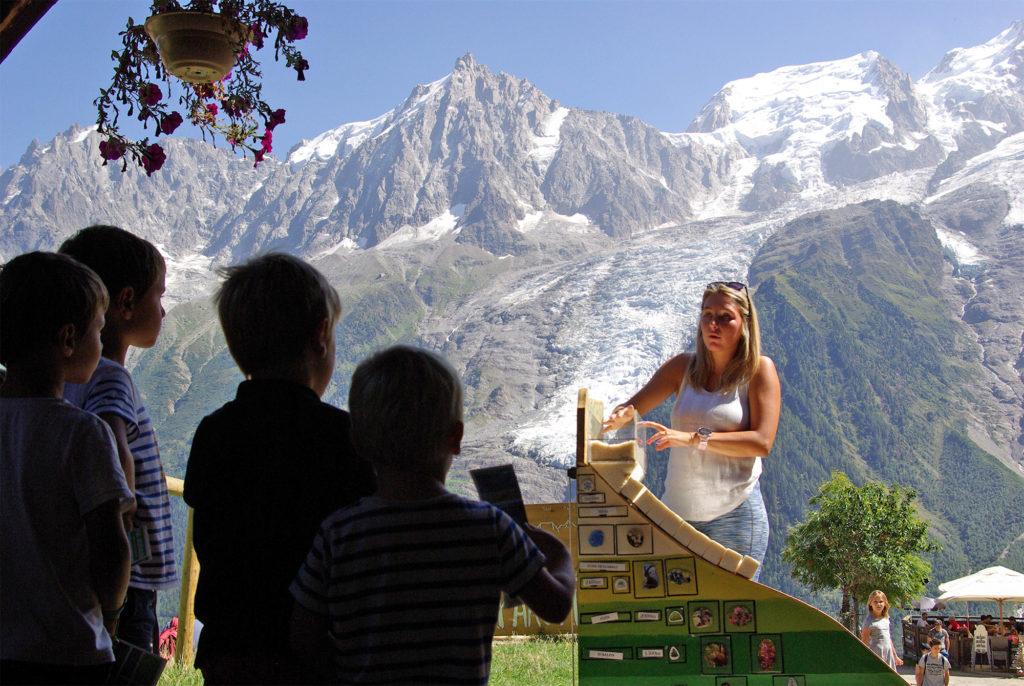 Animation sur les glaciers au parc de Merlet