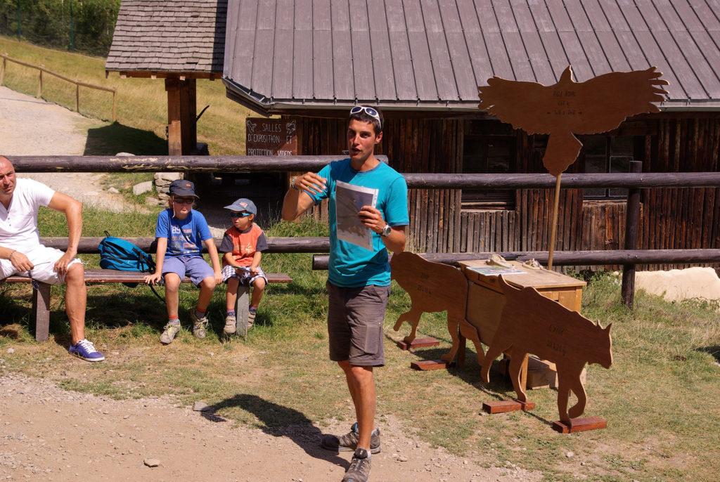 Animation prédateurs au parc de Merlet