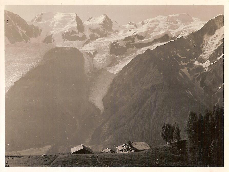 vieilles photos de Merlet - Merlet et le Mont blanc