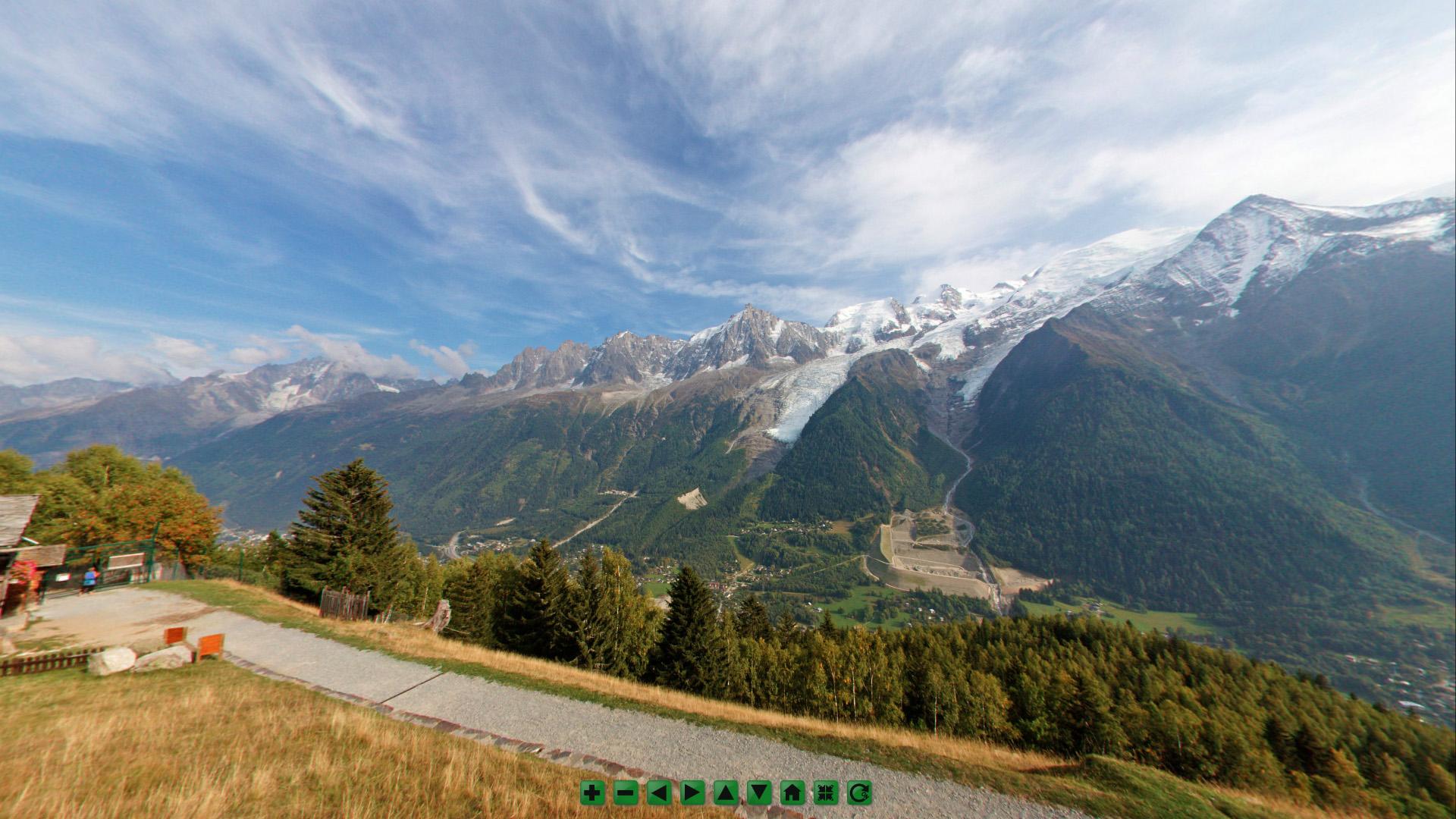 vue à 360 degrés depuis le Parc de Merlet
